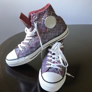 Missoni by converse unisex lace up chuck Taylors